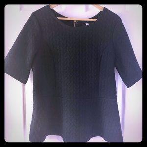 Kenzie Peplum Top - Black, size L